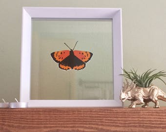 Small Copper Papercut Butterfly