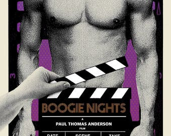 "Limited Edition ""Boogie Nights"" Screen Printed poster by Brian Methe Crazy4Cult Gallery1988"