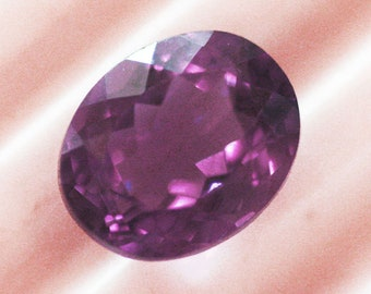 10 x 8 mm Natural Amethyst Faceted Oval Loose Stone