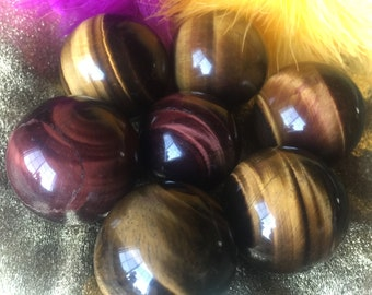 Tigers Eye Sphere, Use in Chakra or Reiki work, Crystal Grid, Use while Meditating, Scrying, Divination.