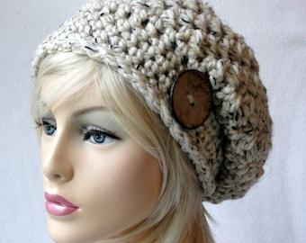 CROCHET  Hat Pattern, crochet beanie pattern, crochet slouch hat pattern, ALL SIZES, Toddler - Child - Adult, Steel Cut Oats Slouch Hat