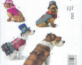 McCalls 7004 - Pet Costumes/Coats & Hats - Sizes S, M, L, XL