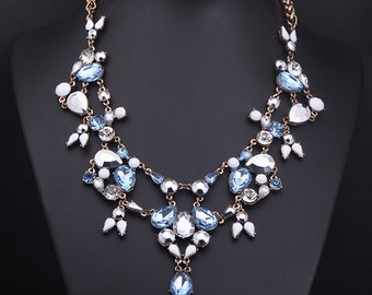 18k Gold Plated Swarovski Crystal Party Necklace & Earring Set NK13923
