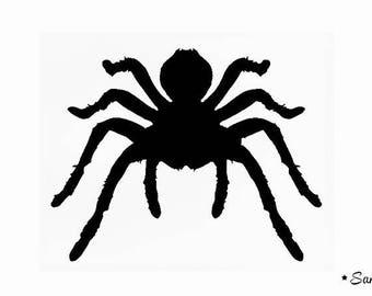 Spider halloween flex fusible migale