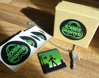 ZOMBIE HUNTER - Pendant, Painting and Stickers Gift Box