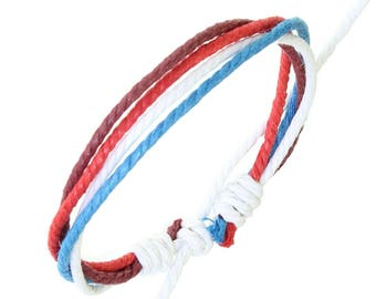 Cord bracelet / Leather wristband / Surf bracelet -0072