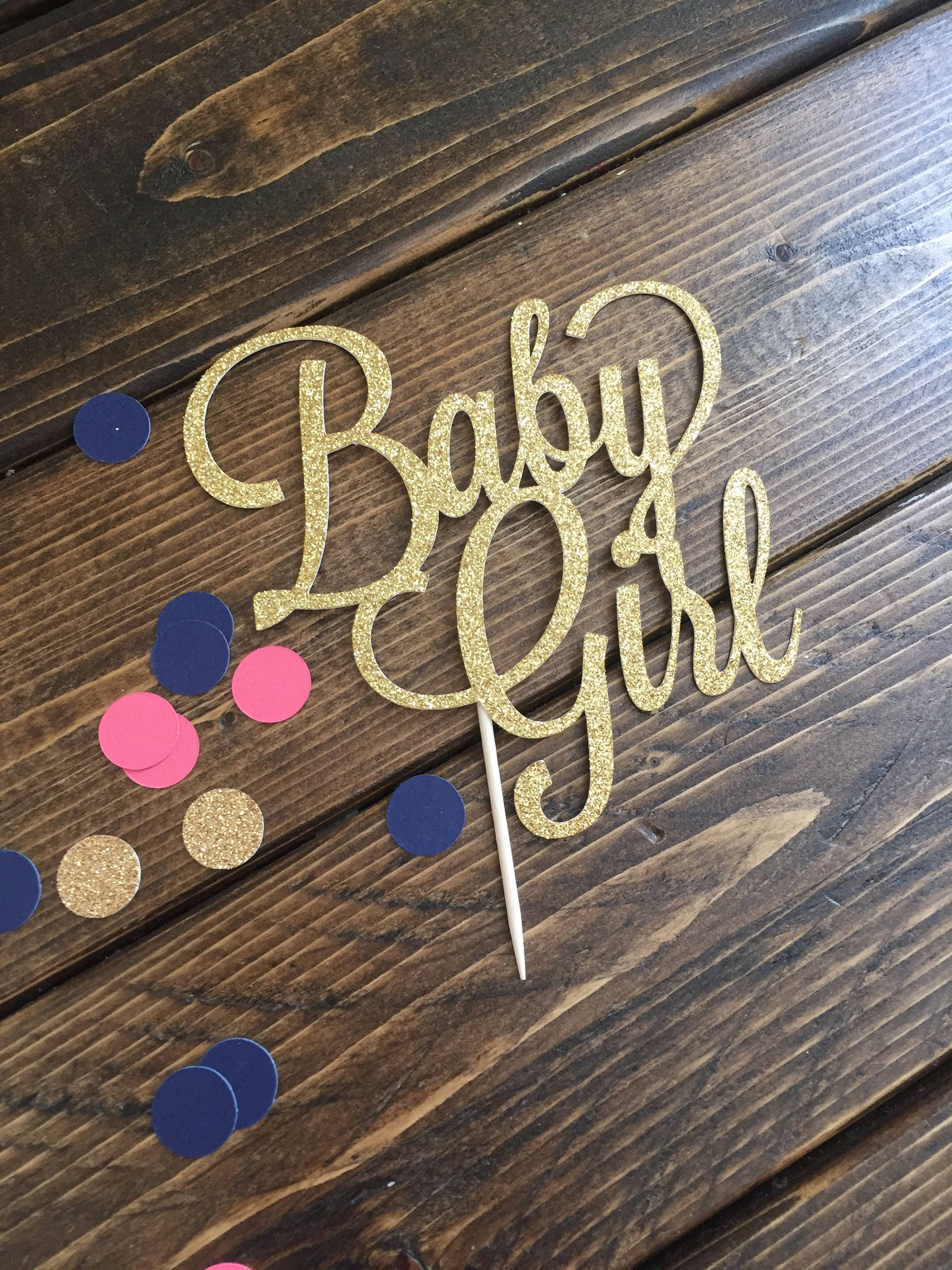 Baby Girl Cake Topper Its A Girl Cake Topper Baby Shower