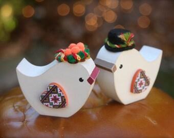 Ukrainian Hutsul Wedding Birds Korovai or Cake Topper