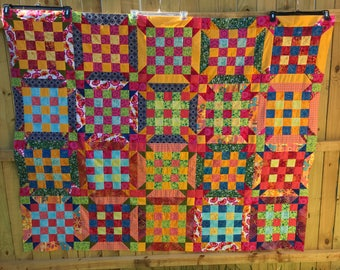 Scrappy Quilt, Quilts for Sale, Quilt Top Unfinished, Patchwork Quilt, Quilt Top, Quilt Top For Sale, Unfinished Quilt Top, Quilt Handmade