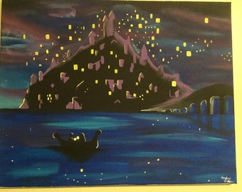 Disney Tangled I See the Light Hand-painted Canvas