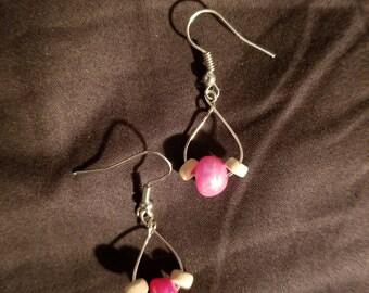 Pink Pearl Teardrop Earrings