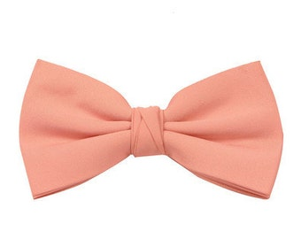 Peach Page Boy's Wedding Bow Tie also available in other colours by Matchimony