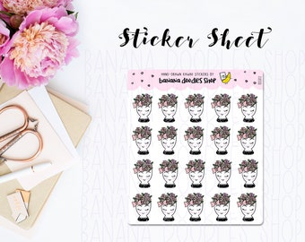 Fancy Girl Cup Stickers