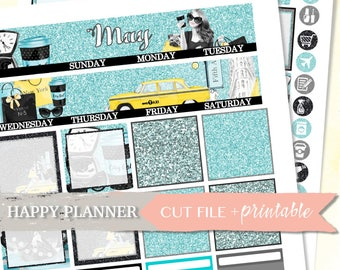 MAY MONTHLY VIEW, Happy Planner Monthly Kit, Happy Planner Sticker, Happy Planner Kit, May Monthly, Digital Printable, Digital Stickers, diy