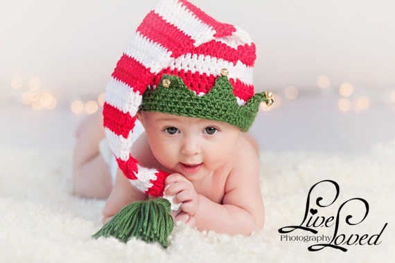 Download PDF crochet pattern 025 - Christmas Elf hat with bells ...