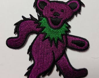 """3"""" Purple Dancing Bear Patch Grateful Dead Owsley Stanley Merry Pranksters Steal Your Face"""