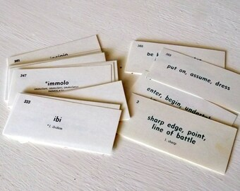 Latin Flash Cards Vocabulary Cards Set of 30 vintage