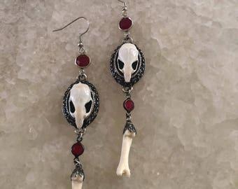 Gothic Skull & Bone Earrings