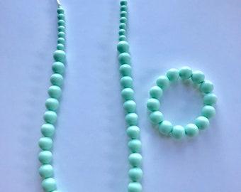 Sale- Mint Pearl Style Set