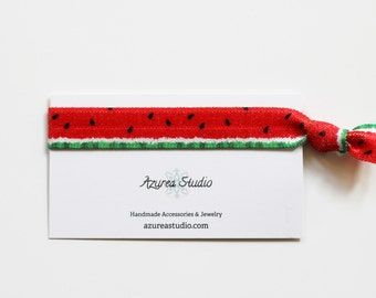 Watermelon Red Green Hair Tie