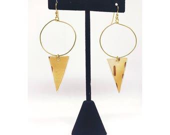 Triangle Birch Earrings