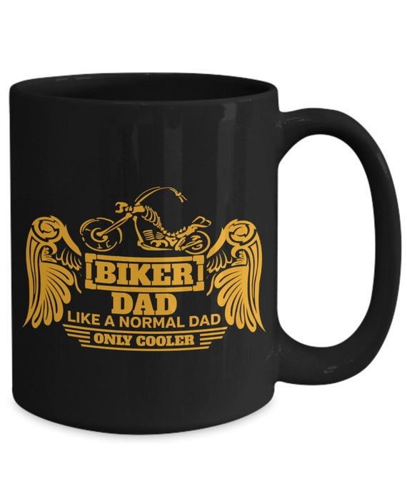 Biker Dad 15oz Coffee Mug Father's Day Gift Idea For Motorcycle Riders