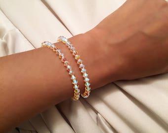 Swarovski crystal stackable bracelets