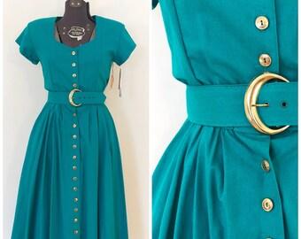 Vintage NOS Dress / Med/Large / 1980's Dress