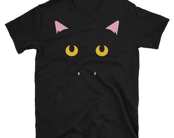 Black Cat Fangs! T-Shirt / Under 20 Dollar Deal!