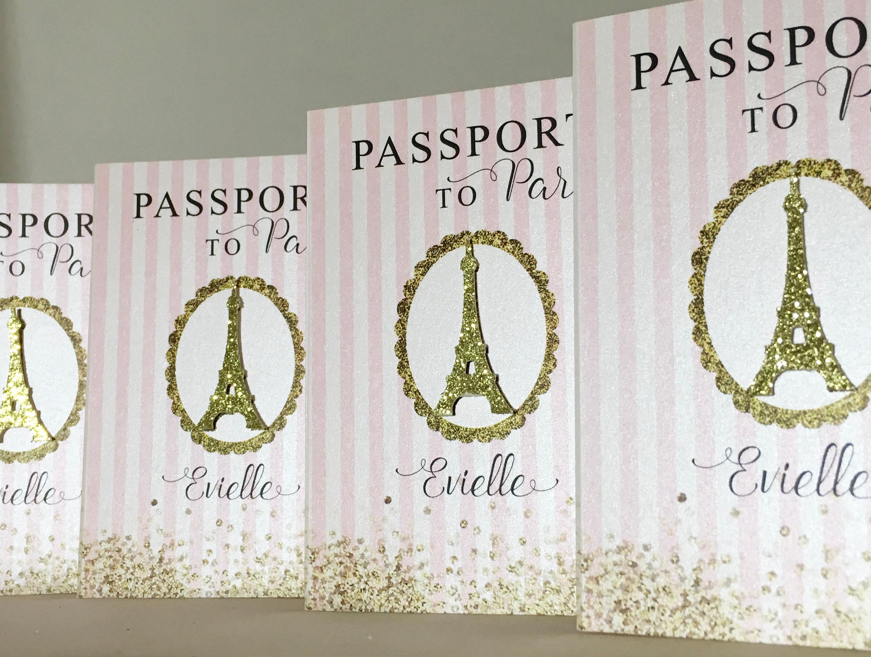 Invitación de pasaporte Paris París primera invitación del