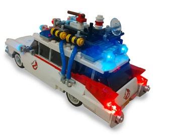 Custom LEGO Ghostbusters Ecto 1 - Lego LIGHT KIT (car not included)