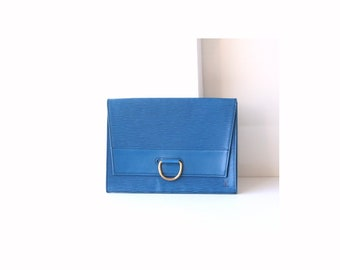 Louis Vuitton Epi Blue clutch bag
