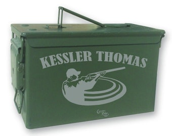 Personalized Engraved Ammo can - 25246 Clay Shooter Personalized W/Name