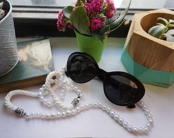 Faux Pearl and Rope Sunglasses Chain