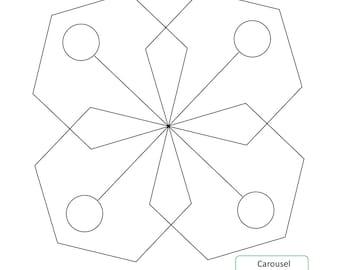 CAROUSEL BLOCK - Longarm Quilting Digital Pattern for Handiquilter Gammill Statler Stitcher Long Arm Machine