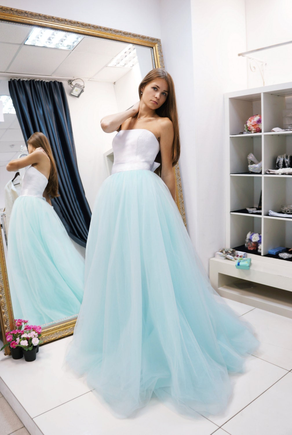 short beach wedding dress detachable skirt wedding dress