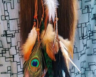 Boho Gypsy Feather Head Band Hair Feathers