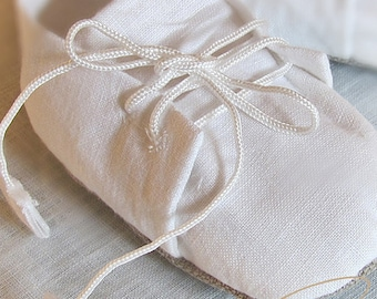 Baptismal flatties for boy, Christening shoes, Linen shoes boys, Flatties for Baptism