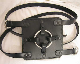 Leather and Steel Wrap Around Strapon Harness