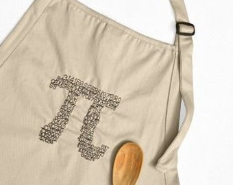Pi 3.14 Embroidered full apron with two pockets