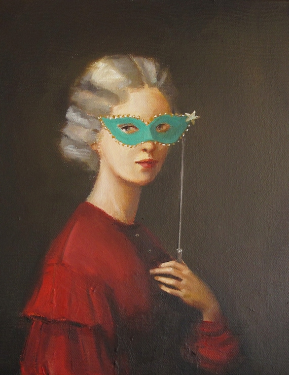Robber Baroness. A Portrait of the Secret Sorority Founder. Art Print