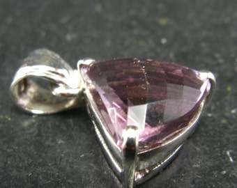 Amethyst Sterling Silver Pendant - 1.0''