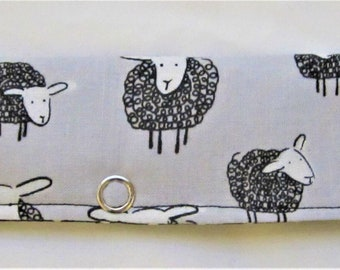 Knitting Needle Keeper For Circulars - Wooley Sheep Grey