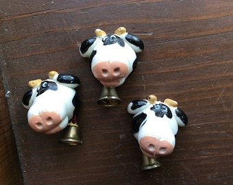 3 cow magnets | refrigerator magnets