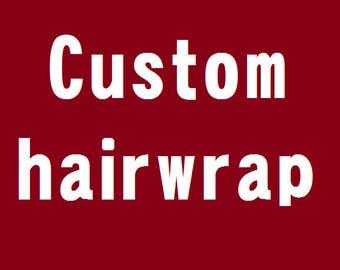 Custom Hairwrap, Atéba, Faux-dread
