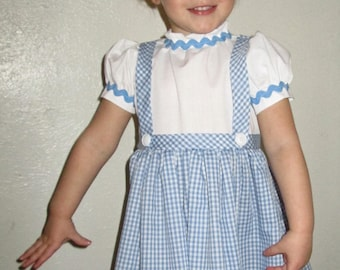 Dorothy costume, dress size 2-4