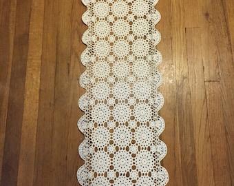 Table Runner - Hand Crocheted