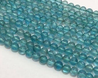 Natural Sky Apetite Plain Round Beads, 4mm , 13 inches, Sky Blue Beads, Gemstone Beads, Semiprecious Stone Beads