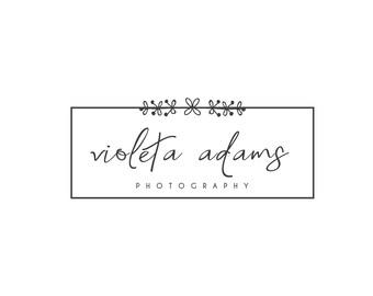 Logo and Watermarks, custom square logo, logo with hand drawn flowers, gold logo, custom logo, square logo, floral logo, gold with flowers