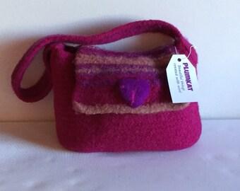 Hot Pink Felted Handbag